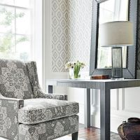 Thibaut Bari Ikat wallpaper in Grey