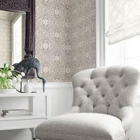 Thibaut Tulsi Block Print wallpaper in Natural