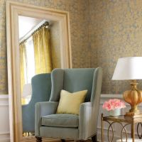 Thibaut Curits Damask wallpaper in Metallic Gold on Silver Cork