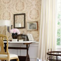 Thibaut Regency wallpaper in Cream and Tan