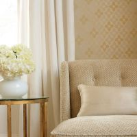 Thibaut Empire Silk woven fabric in Beige