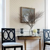 Thibaut Rothbury Trellis wallpaper in Linen