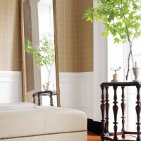 Thibaut Henley Plaid wallpaper in Camel