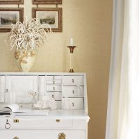 Thibaut Bankun Raffia wallpaper in Butter